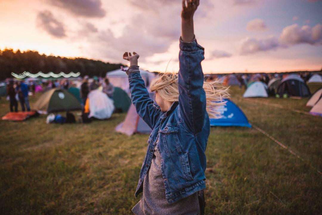 inositol for pcos - women in field camping for festival